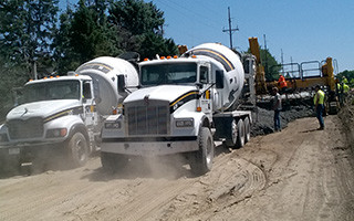 Overland Ready Mixed Concrete Truck